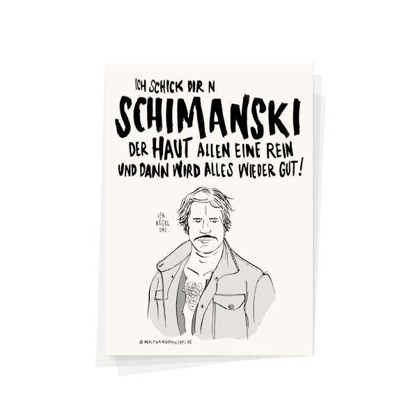 wolfgang philippi postkarte schimanski
