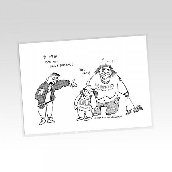 wolfgang philippi postkarte viel spass