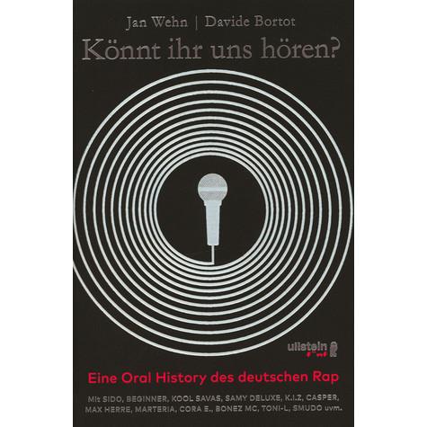 """ullstein verlag jan wehn & davide bortot """"könnt ihr uns hören? eine oralhistorie des deutschen rap"""""""