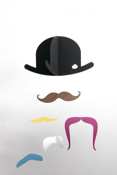 jäll & toffta mr.moustache mobilé gold edition