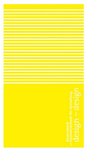 form+zweck design-design fachwörterbuch dt.-engl.