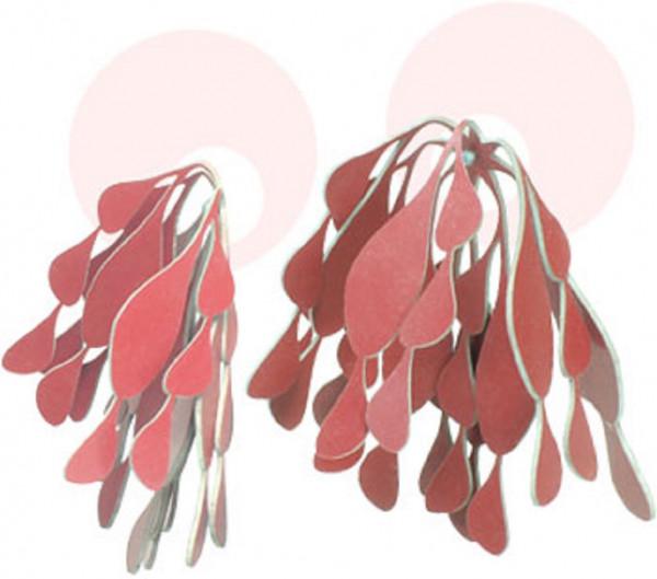 ubo ohrschmuck beads no.1 rot