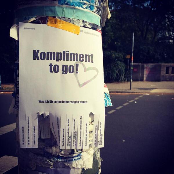 post aus düsseldorf abrissblock komplimente to go