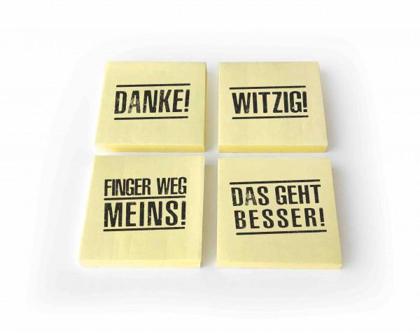 post aus düsseldorf haftnotizblock post it!