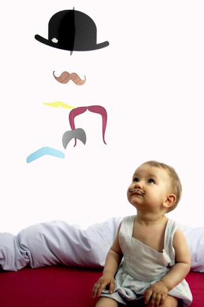 jäll & toffta mr.moustache mobilé