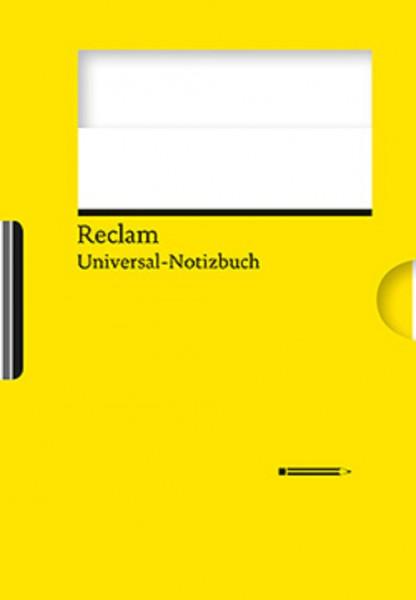 reclam universal notizbuch blanko mit integriertem bleistift