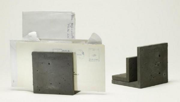 betonware briefhalter briefstütze - set