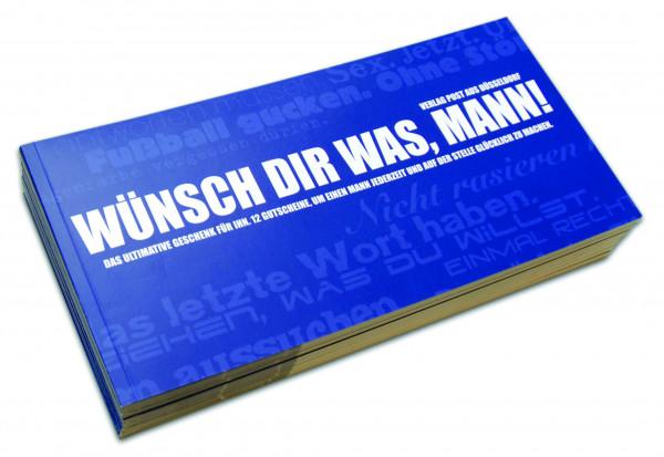 post aus düsseldorf gutscheinbuch: wünsch dir was, mann!