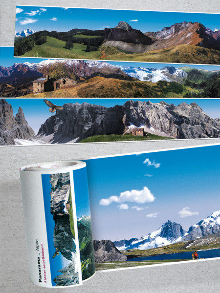 extratapete panoramaborten selbstklebend ohne motiv-wiederholung