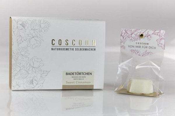 coscoon cosmetics badetörtchen sweet cinnamon (diy-kit)