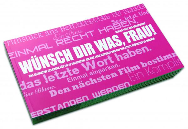 post aus düsseldorf gutscheinbuch: wünsch dir was, frau!