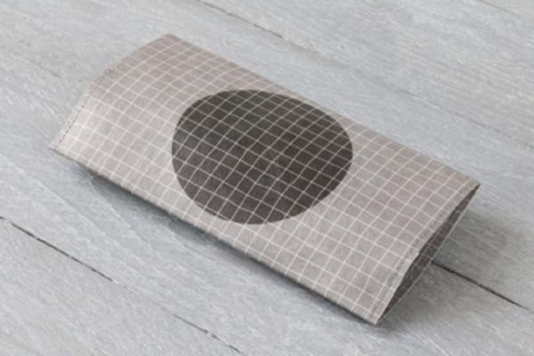 paprcuts tabakbeutel mit extrafach für blättchen geometric grey