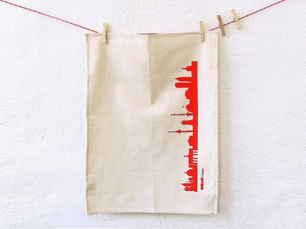 44spaces city tea towel berlin
