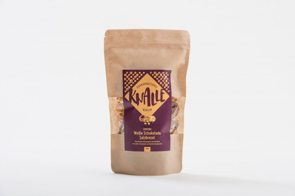 knalle popcorn 100 g weiße schokolade - salzbrezel