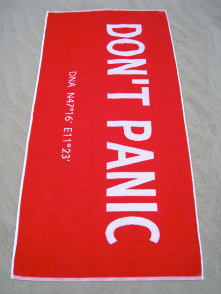 royal plus don't panic towel