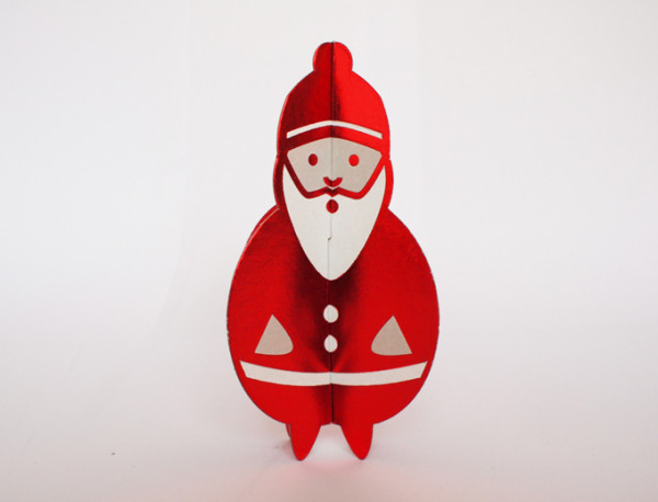 cut & make postcard father christmas